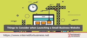 Things to Consider when Launching a Small Business Website
